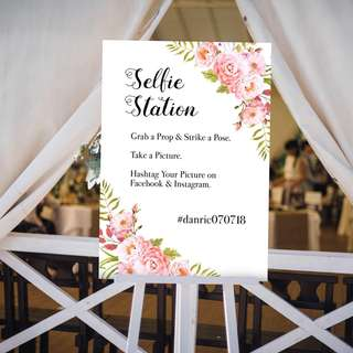 Selfie Station Wedding Signage