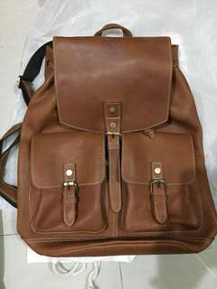 Brand new! Vintage inspired Full Grain Leather Backpack
