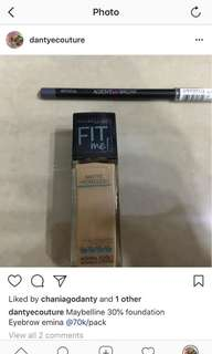 Foundation + pensil alis murah