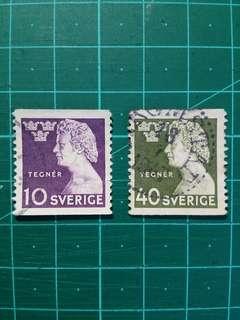 [贈品]1946 瑞典 現代詩作之父 舊票一套