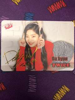 Da Hyun~Twice YES! Card