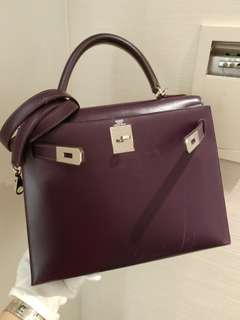 Hermes kelly 28 raisin