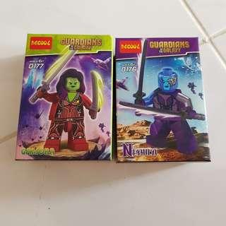 GAMORA N NEBULA Mini Figurines Guardians of Galaxy