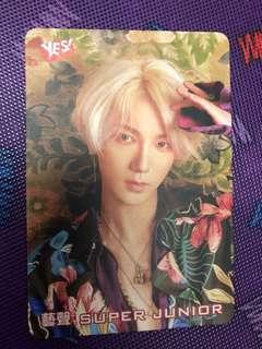 Kim Jong-Woon~SuperJunior YES! Card