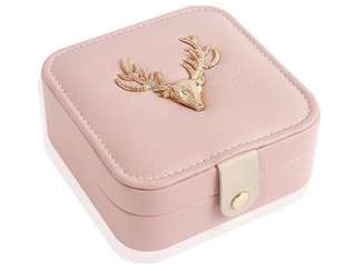 Portable Travel Jewellery Storage Organizer Box (Pink)