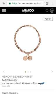 Mimco memoir beaded bracelet