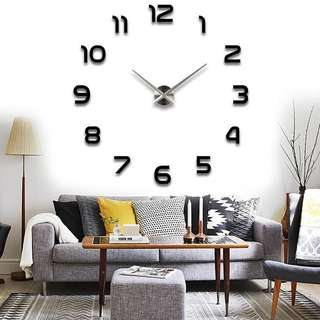 DIY Modern ExtraLarge 3D Wall Clock  CODE: LOS093