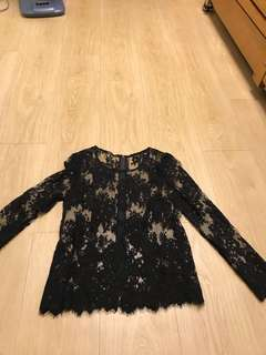 Black French Lace Top