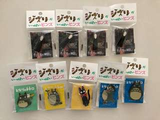 Studio Ghibli Museum Japan Pins • Totoro • No face • Kiki's delivery •