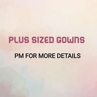 Plus Sized Gowns