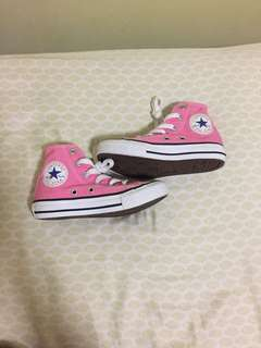 Authentic High-Cut Pink Converse for Kids