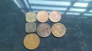 Mix copper old coin