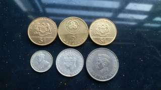 6pcs Mix Coin