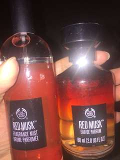 The Body Shop Red Musk 60ml Eau de Toilette, Red Musk Body Mist 100ml