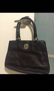 Authentic Oroton leather short handle bag