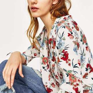 Zara Inspired! Floral Long Top
