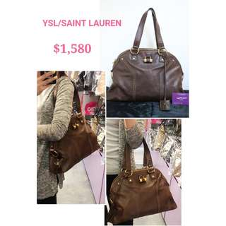 70% New YSL/ SAINT LAURENT 156464 Muse 啡色 牛皮 肩背袋 手袋 Muse Brown Calfskin Handbag