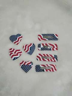 US Flag 4th of July Themed Hair Clips by the dozen