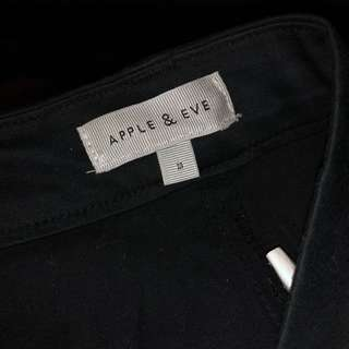 Apple & Eve Cropped  Black Pants