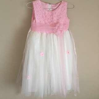Pink & White Dress