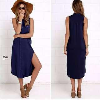 shirt dress with slip