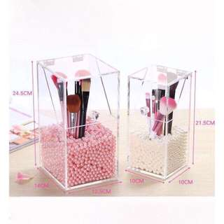 Crystal clear brush storage box (small)