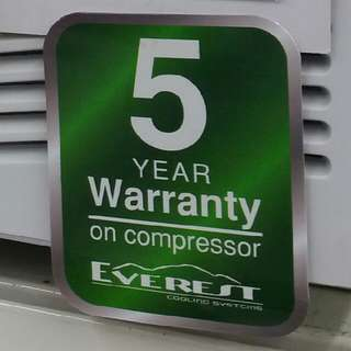 5 Year Warranty Brand New .5HP Window Type Aircon Everest Brand Free Delivery Price: P8,990