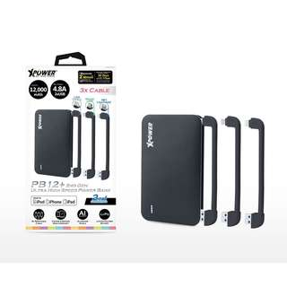 PB12+ 12000MAH 4.8A MFi Power Bank