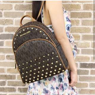 AUTHENTIC Michael Kors Abbey Studded Backpack