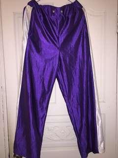 🚚 紫色落地運動褲