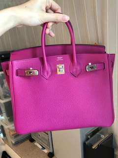 Hermes Birkin 25 rose purple b25 L3