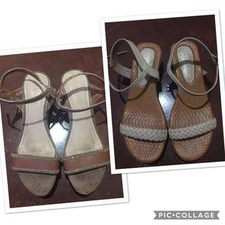 Bundle! CLN Wedge Sandals  Size 8