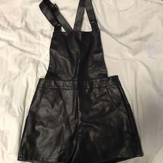 Noughts and Crosses Leather-Look Overalls.