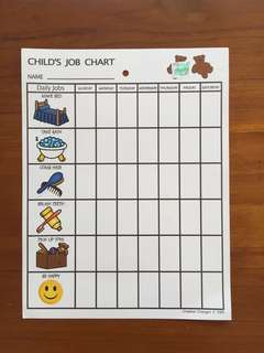 Child's Job Chart