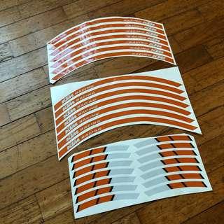 KTM 17inch Rim Reflective Sticker