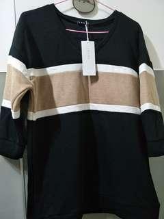 🚚 日本 INGNI 條紋7分袖上衣