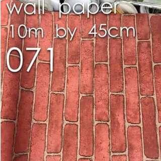 Bricks Stones Design Wallpaper Self Adhesive C071