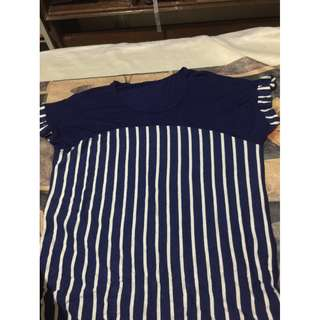 Blue Top with stripes