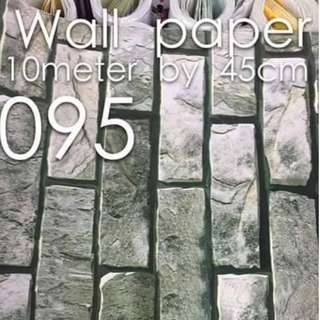 Bricks Stones Design Wallpaper Self Adhesive C095