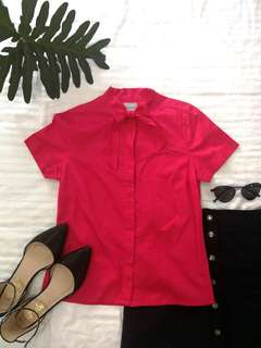 Pink Blouse with Ribbon