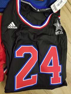 Adidas 2015 All stars game Kobe Bryant swingman jersey 美版 size xxl, 此款較細