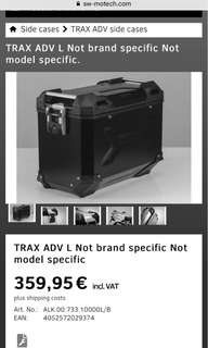 Trax ADV Aluminium LEFT side case