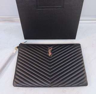 READY STOCK YSL Large Clutch (Authentic )