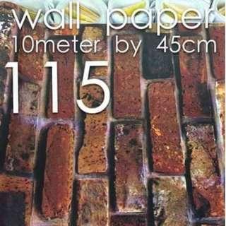 Bricks Stones Design Wallpaper Self Adhesive C115