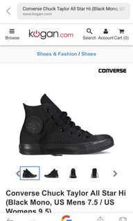 Sz 7 converse all stars as new can send more photos