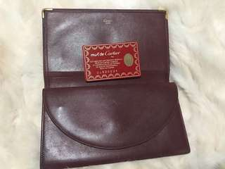 Preloved Cartier leather wallet
