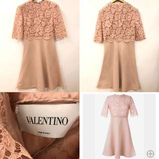 斯文裙 Valentino lace top dress size 38