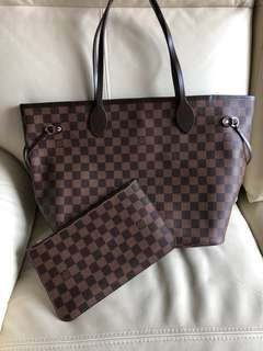 LV Louis Vuitton Damier Neverfull MM