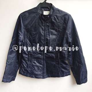 Authentic Bossini Ladies Solid Zip-Up Padded Bomber Jacket (Black) + Free Shipping*