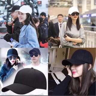 Korean plain baseball cap ( unisex)